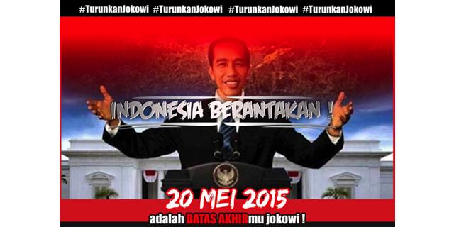 20 Mei Mahasiswa bergerak,bersatu diseluruh kota turunkan Jokowi !
