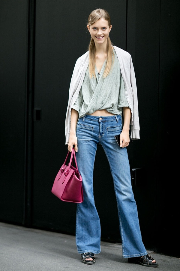 how to wear flared jeans, pic 3