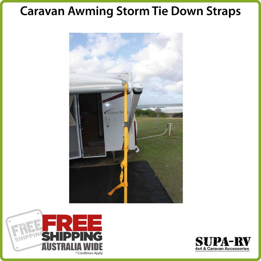 how to put down a caravan awning