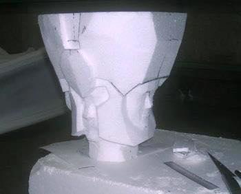 Processo de criação da Armadura de Gemeos para a exibição de Pachinko WBaZ80DI