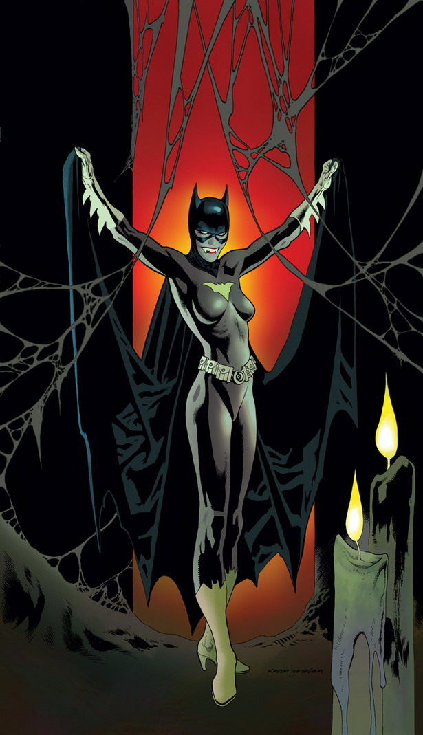 image hostOtra vampira en la portada de BATGIRL nº35 por Kevin Nowlan