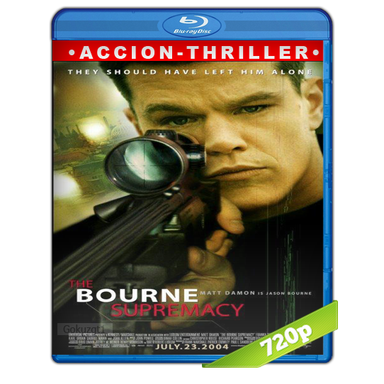 La Supremacia Bourne (2004) BRRip 720p Audio Trial Latino-Castellano-Ingles 5.1