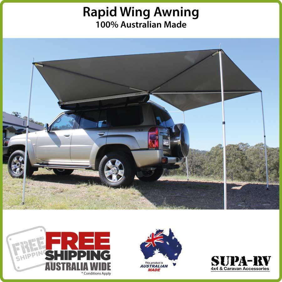 4WD Rapid Wing Wraparound Awning 100% Australian Made Wrap ...