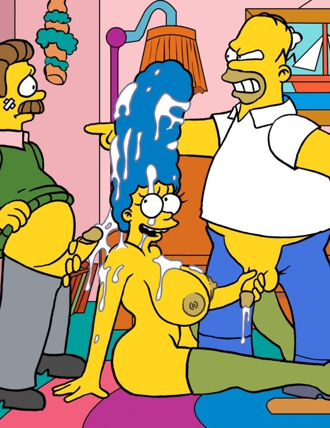 Trío XXX con Ned Flanders