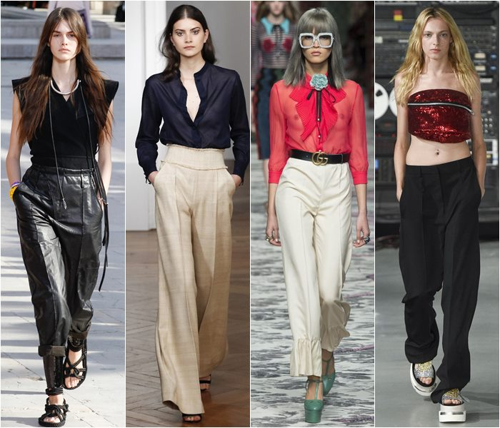 Pants with creases spring/summer 2016