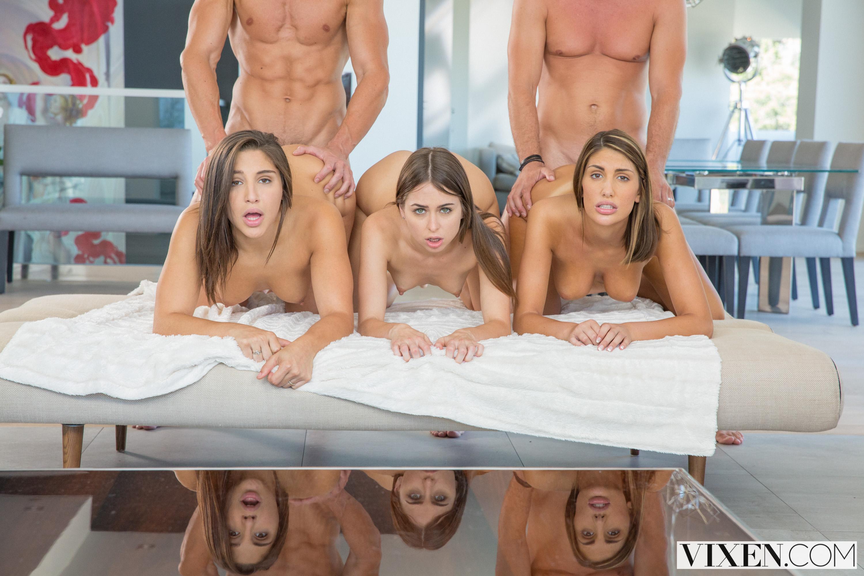 Riley Reid, August Ames y Abella Danger - un día de 3 chicas