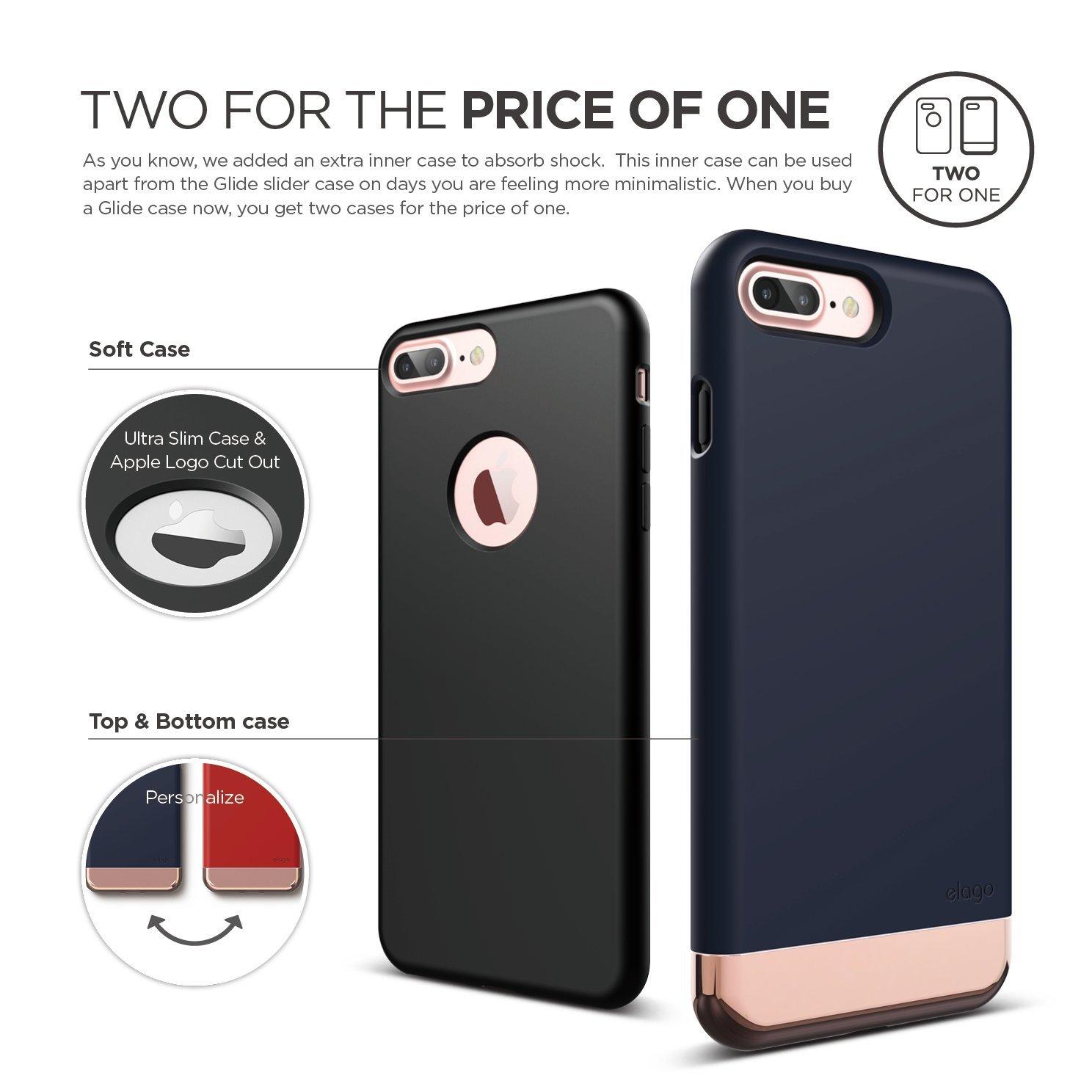 S7 Glide For Iphone 7 Plus Jean Indigo Chrome Rose Gold Elago