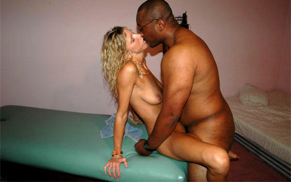 Sexy white girl spreads her legs open for big black cock 3