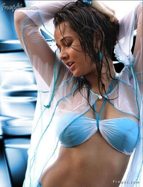 Nisha Kothari wearing Bikini Blouse AcvBoX2m
