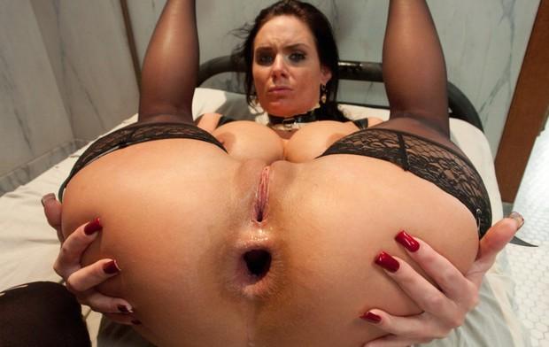 Busty latex mistress sissy blowjob