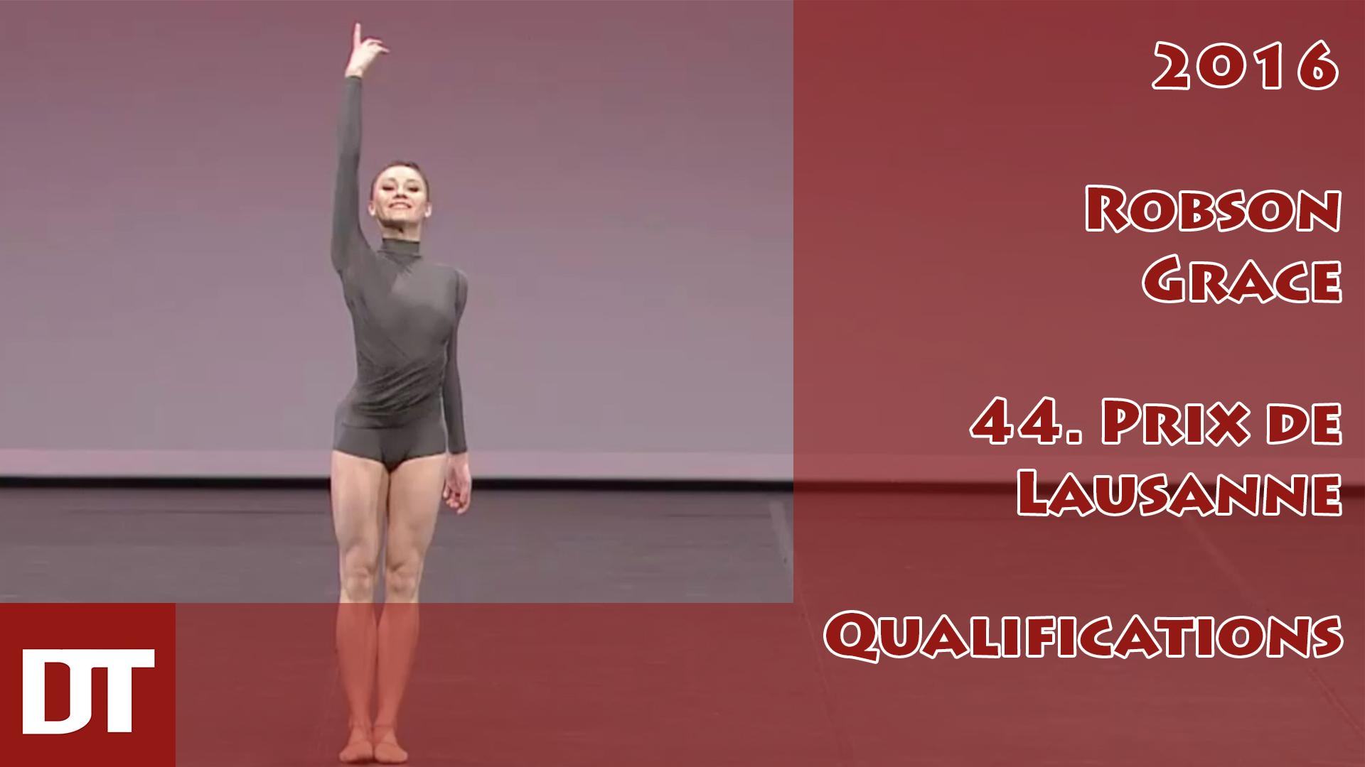 2016 – Robson Grace – 44. Prix de Lausanne – Qualifications