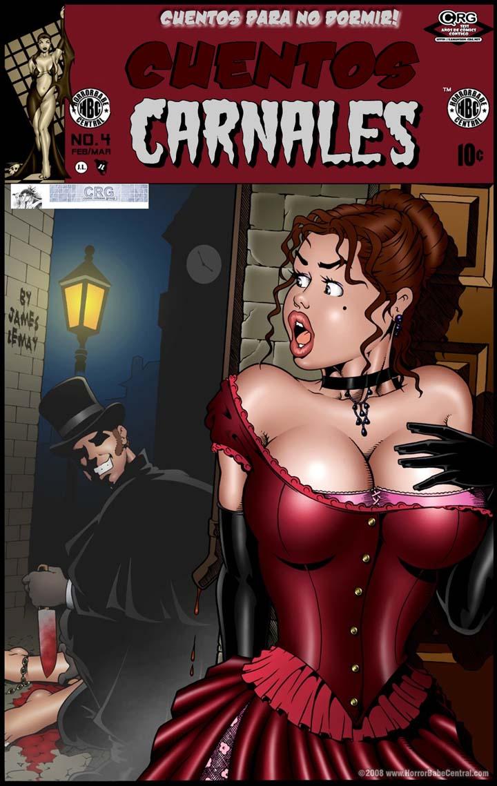 CUENTOS CARNALES 2. Cómic porno de terror. Página 01.