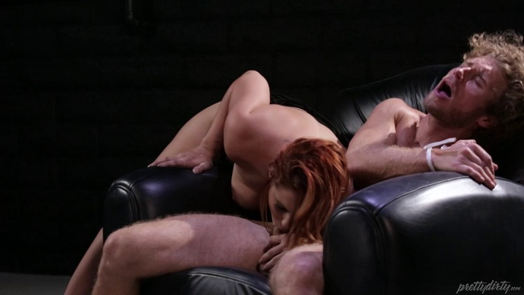 hairy redhead strapon