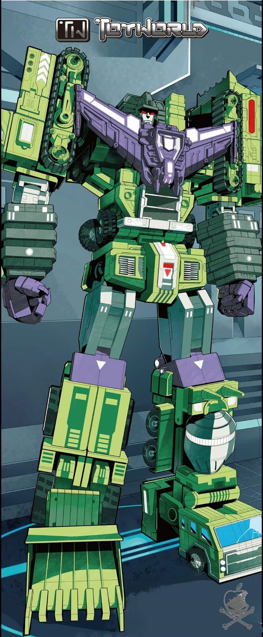 [Toyworld] Produit Tiers - Jouet TW-C Constructor aka Devastator/Dévastateur (Version vert G1 et jaune G2) GfuJUUVC