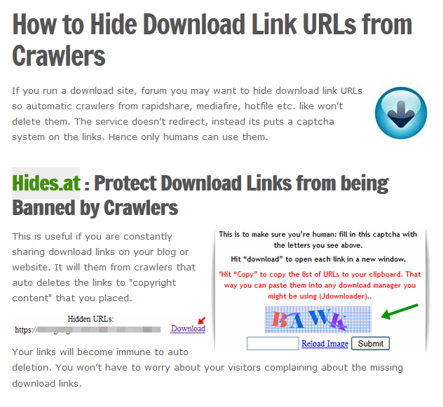 How to Hide Download Link URLs From Crawlers Read more