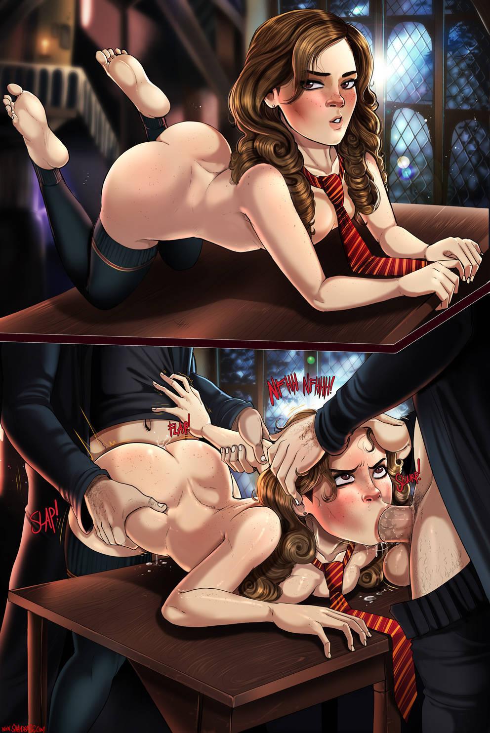Hermione Granger mostrando su culo