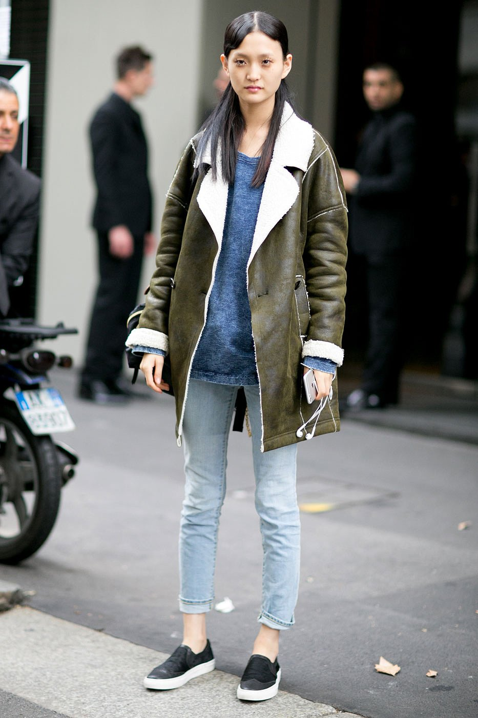 How to wear cropped jeans NYFW Fall/Winter 2016 pic 2