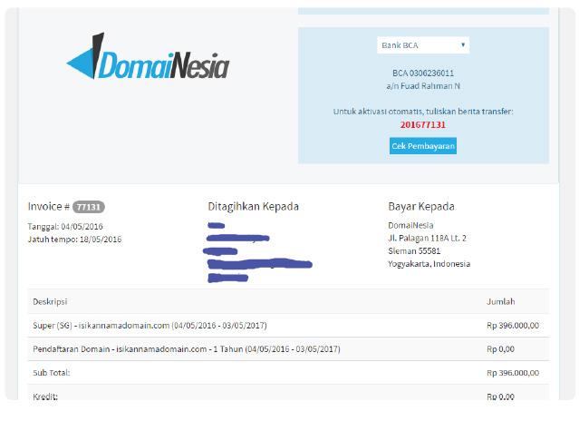 membuat website di domainesia