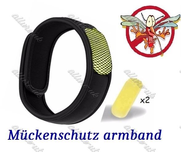 m ckenschutz armband 2 wirkstoff pellets bug insect repellent anti mosquito band ebay. Black Bedroom Furniture Sets. Home Design Ideas