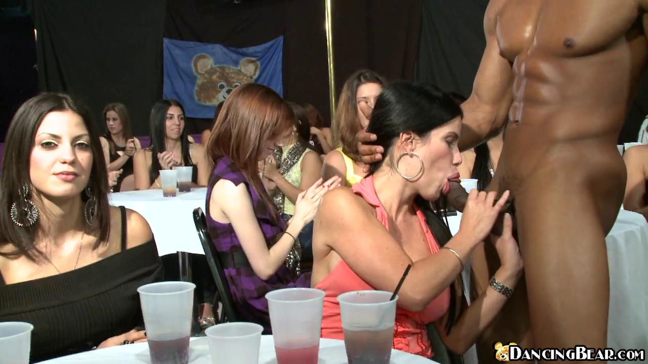 Dancing bear party milf